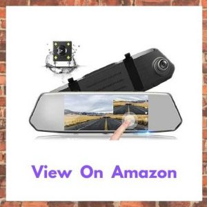 TOGUARD Backup Camera 7″ Mirror Dash Cam Touch Screen