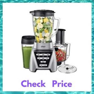 Oster Pro 1200 Blender with Glass Jar, 24-Ounce Smoothie Cup