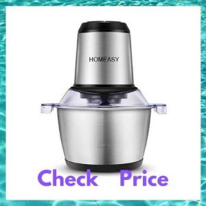 Homeasy Meat Grinder, Food Chopper 2L Stainless Steel Food Processor