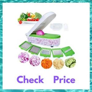 LHS Vegetable Dicer Slicer Cutter and Cheese Chopper with 5 Blades