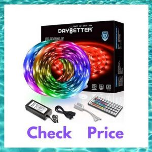 DAYBETTER led strip lights 32.8ft 10m with 44 keys IR Remote