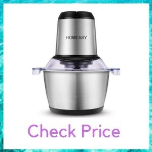 HOMEASY MEAT GRINDER, CHOPPER STAINLESS STEEL FOOD PROCESSOR