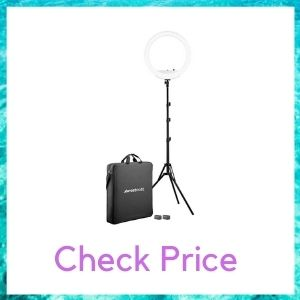 """Westcott 18"""" Bi-Color LED Ring Light Kit with Batteries and Stand"""